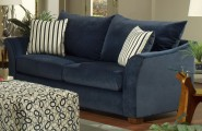 Blue Sofas: Unique And Enlightening Furniture : Dark Blue Sofa Motives Sofa Table Table Lamp Simple Rugs