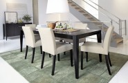 Dining Table Of Wood Present Elegant And Calm Look : Dark Wooden Expandable Dining Table