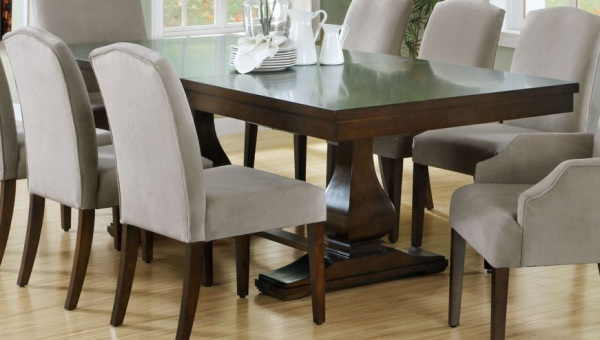 Make Your Dining Room Elegant With Expandable Dining Table : Dark Wooden Extension Dining Table