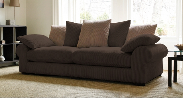 Brown Sofas Filling A Modern Style Living Room : Davinci Dark Brown1