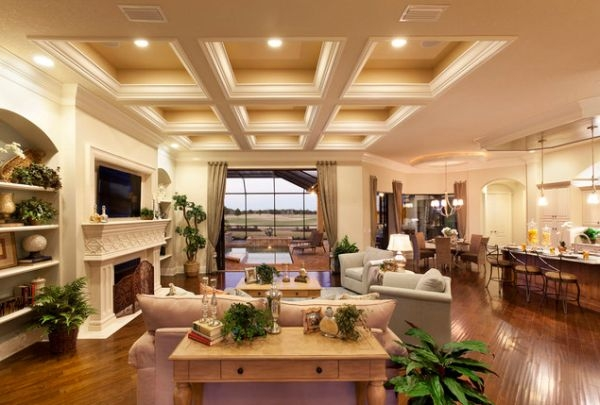 Marvelous Ideas For Your Open Plan Room: Define Space Using The Ceiling Refresh Interior With Indoor Plants ~ stevenwardhair.com Interior Design Inspiration