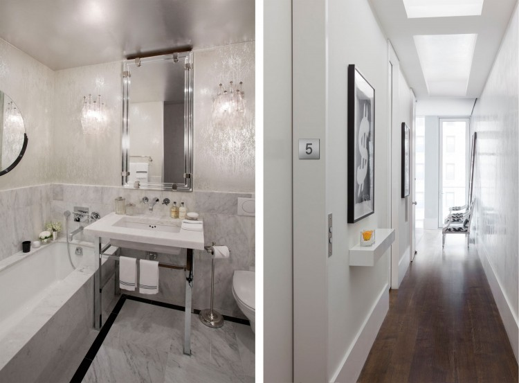 Gorgeous Modern Residence For Youthful Soul Living Place : Deluxe Bathroom Design With Cute Of Mirrorr In The Park Avenue