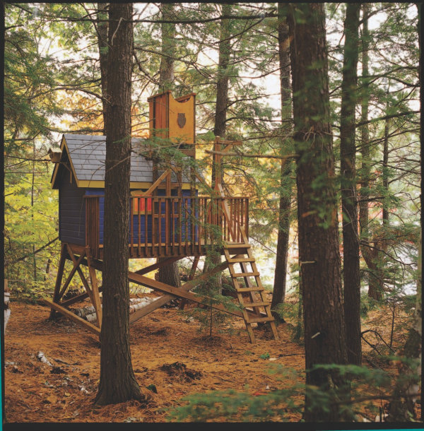 Playful Tree House Design For Your Kids : Deluxe Tree House