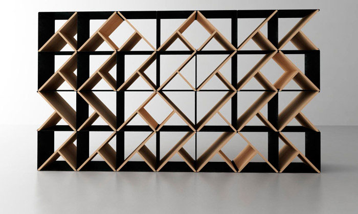 Unique Shelving Design With The Interesting Decoration : Designed Wooden Y Frame Unique Shelving Storage