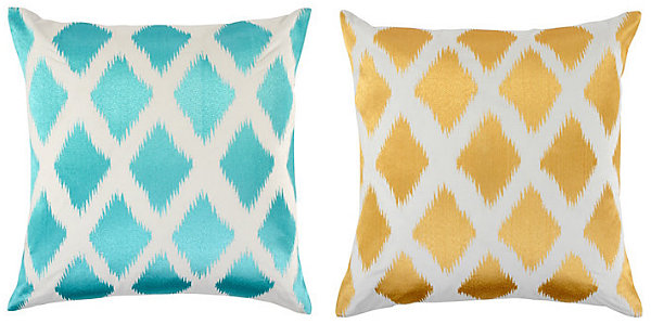 Fresh Throw Pillows For Your Powerful Spring: Diamond Ikat Pillows From Z Gallerie