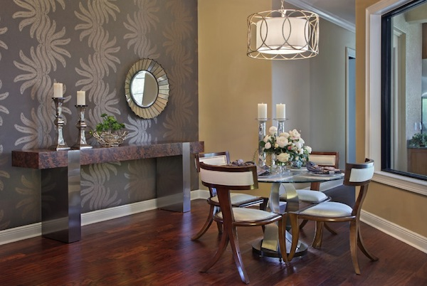 Dining Room Wallpaper To Create High Artistic Value : Dining Room Wallpaper