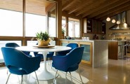 Fascinating Dining Room Decoration Offers Comfort Taste : Dining Room With Large Open Work Kitchen