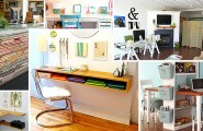 Wall Mounted Desks For Saving Space : DIY Desks Inspirational Ideas