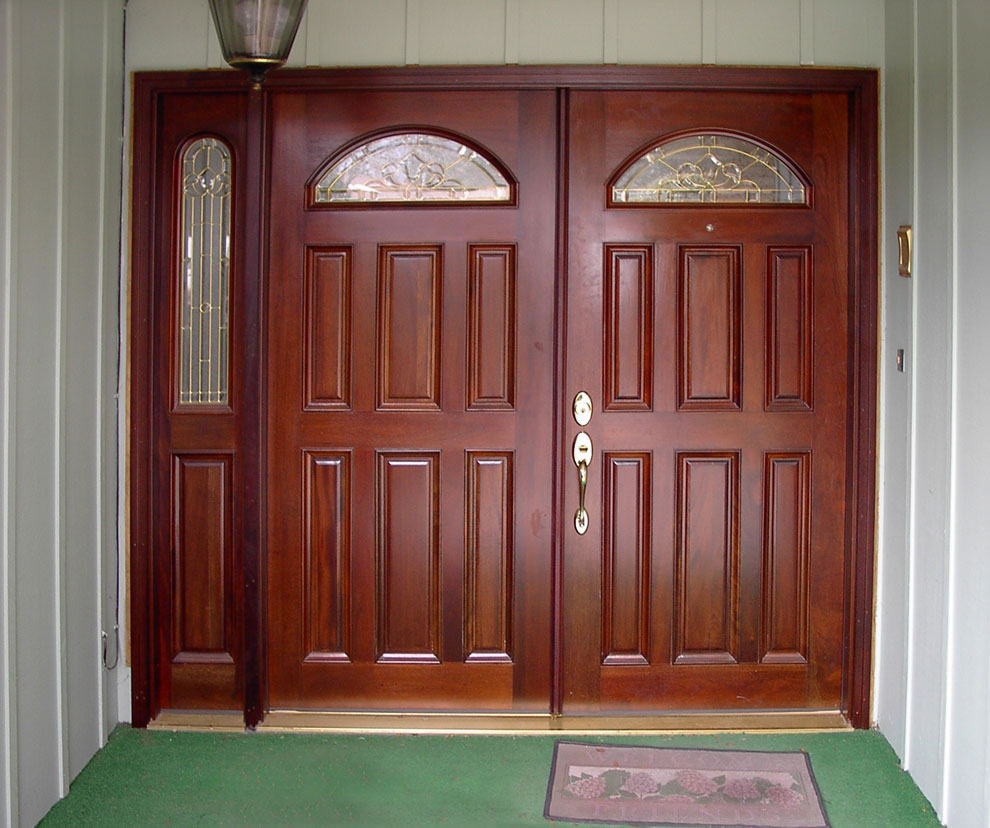 Inspiring Double Entry Doors For Home With Clear Design: Double Entry Sidelight