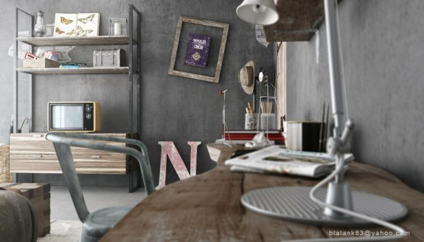 Industrial Bedroom Give You Artistic Feeling: Driftwood Shelf ~ stevenwardhair.com Bedroom Design Inspiration