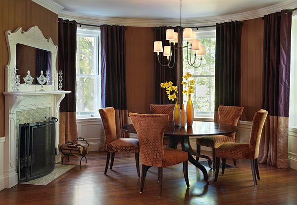 Stylish Dining Room Sticking Out Modesty Ideas In Your Home : Eclectic Dining Room With Round Table