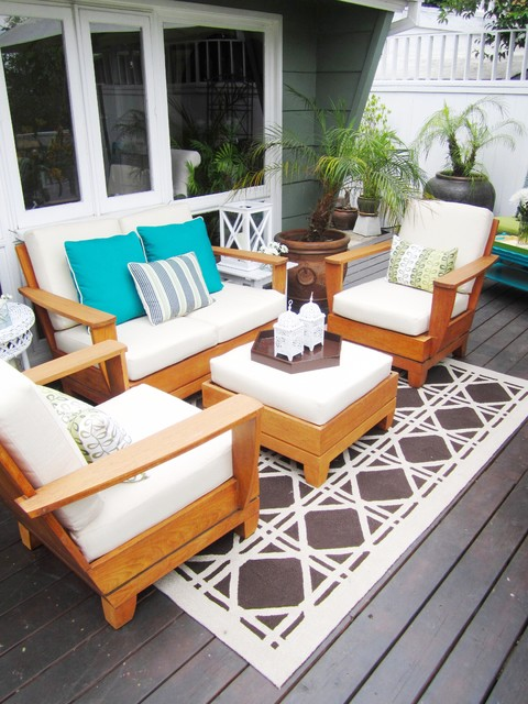 Naturewood Furniture As Luxury House Design: Ecletic Deck Naturewood Furniture Design Ideas