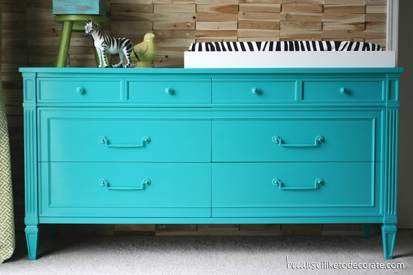 Colorful Bedroom Dressers With Bright Color Concept: Electric Blue Changing Table Decor With Zebra Accent1 ~ stevenwardhair.com Bedroom Design Inspiration
