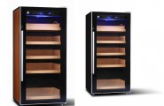 Unique Wine Humidor From Wooden Material : Electronic Shop Digital Control Wine Humidor Cabinet Modern Stainless Steel Shape