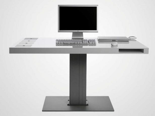 Minimalist Computer Desk For Better Productivity: Elegant And Modern Modern Computer Desk Furniture For Office Prestige ~ stevenwardhair.com Desks Inspiration