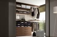 Closet Ideas For Small Bedrooms With Classy Look : Elegant Bedroom Closet Design With Dark Brown Natural Wood Finish