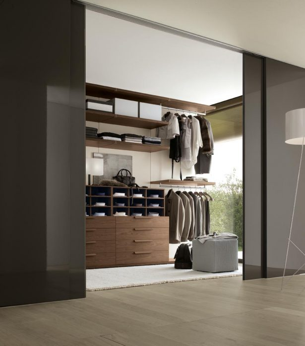 Closet Ideas For Small Bedrooms With Classy Look: Elegant Bedroom Closet Design With Dark Brown Natural Wood Finish ~ stevenwardhair.com Bedroom Design Inspiration