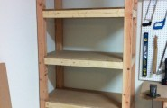 Garage Shelves Is A Simple Way To Save Your Tools : Elegant Garage Shelves Teak Wood Storage Organization Design