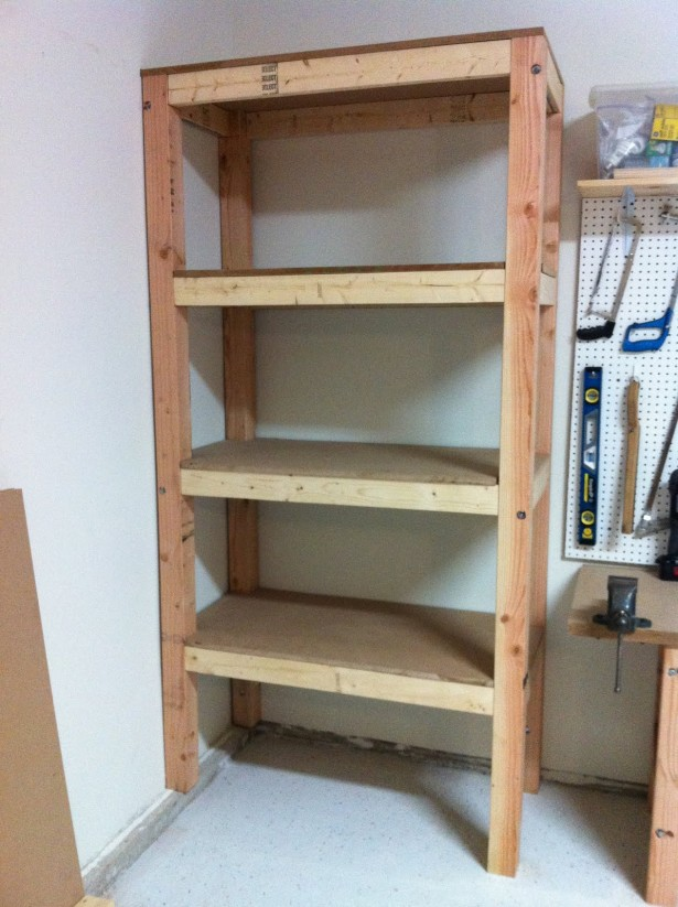 Garage Shelves Is A Simple Way To Save Your Tools: Elegant Garage Shelves Teak Wood Storage Organization Design ~ stevenwardhair.com Storages Inspiration