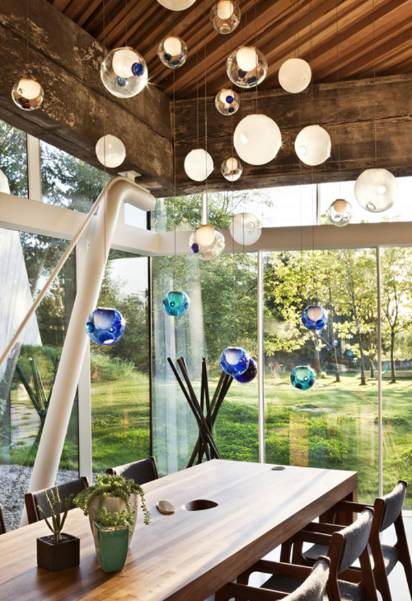 The Italian Chandelier As Your Aesthetic Light: Elegant Glass Ball Chandeliers By Bocci ~ stevenwardhair.com Interior Design Inspiration