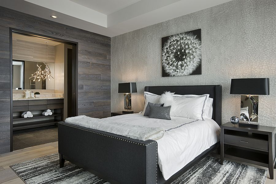 Top Ski Resort With Privacy For A Single Family: Elegant Guest Bedroom Combines Cabin Style With A High End Hotel Look