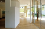 Home Architectural Design: The Cube House : Elegant Home Interior Design With Modern Wooden Wall And Glass Wall Design