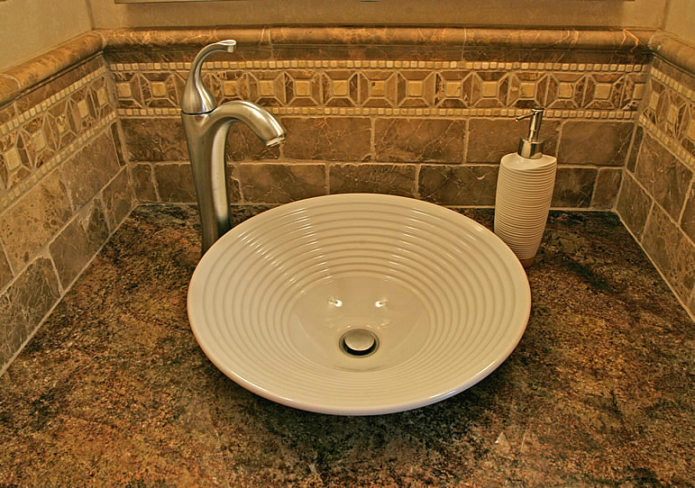 Bathroom Design: Magnificent Classic Faucet Washbasin Tile Design ...