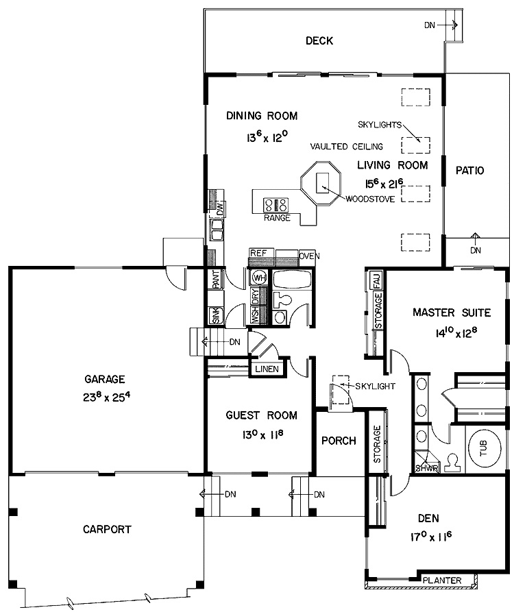 Two Bedroom House Plans For Family: Elegant Modern Minimalist Spacious Two Bedroom House Plans Design