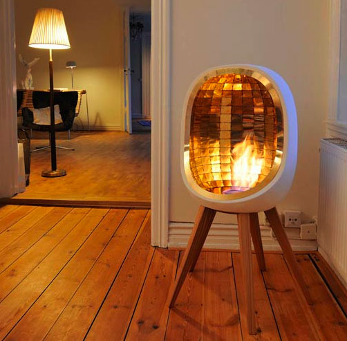 Practice Portable Fireplace For Your Activities: Elegant Modern Minimalist White Wooden Style Portable Fireplace ~ stevenwardhair.com Fireplace Inspiration