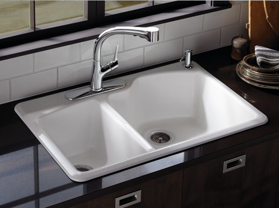 Amazing Kohler Stainless Steel Sinks Bring IN The Practical Use In Stylish Form: Elegant Modern Style Kohler Stainless Steel Chrome Faucets