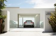 Garage Interior Design Ideas For Minimalist Home : Elegant Modern Style White Color Garage Interior Design Ideas