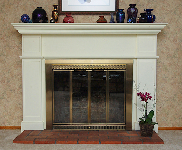 Classic Fireplace Mantel Designs For Old Lounge Look: Elegant Modern Style White Frame Fireplace Mantel Designs