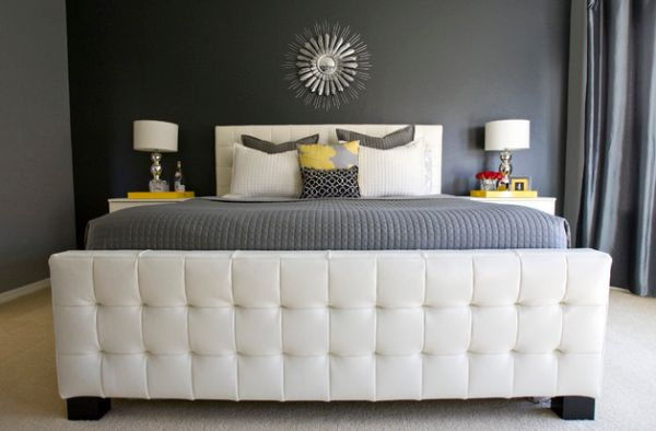 Amazing Headboard Designs For Contemporary Bedroom: Elegant Tufted Headboard Completes This Soothing Bedroom
