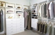 Closet Ideas For Small Bedrooms With Classy Look : Elegant White Closets With Several Drawer And Adjustable Shelving Units