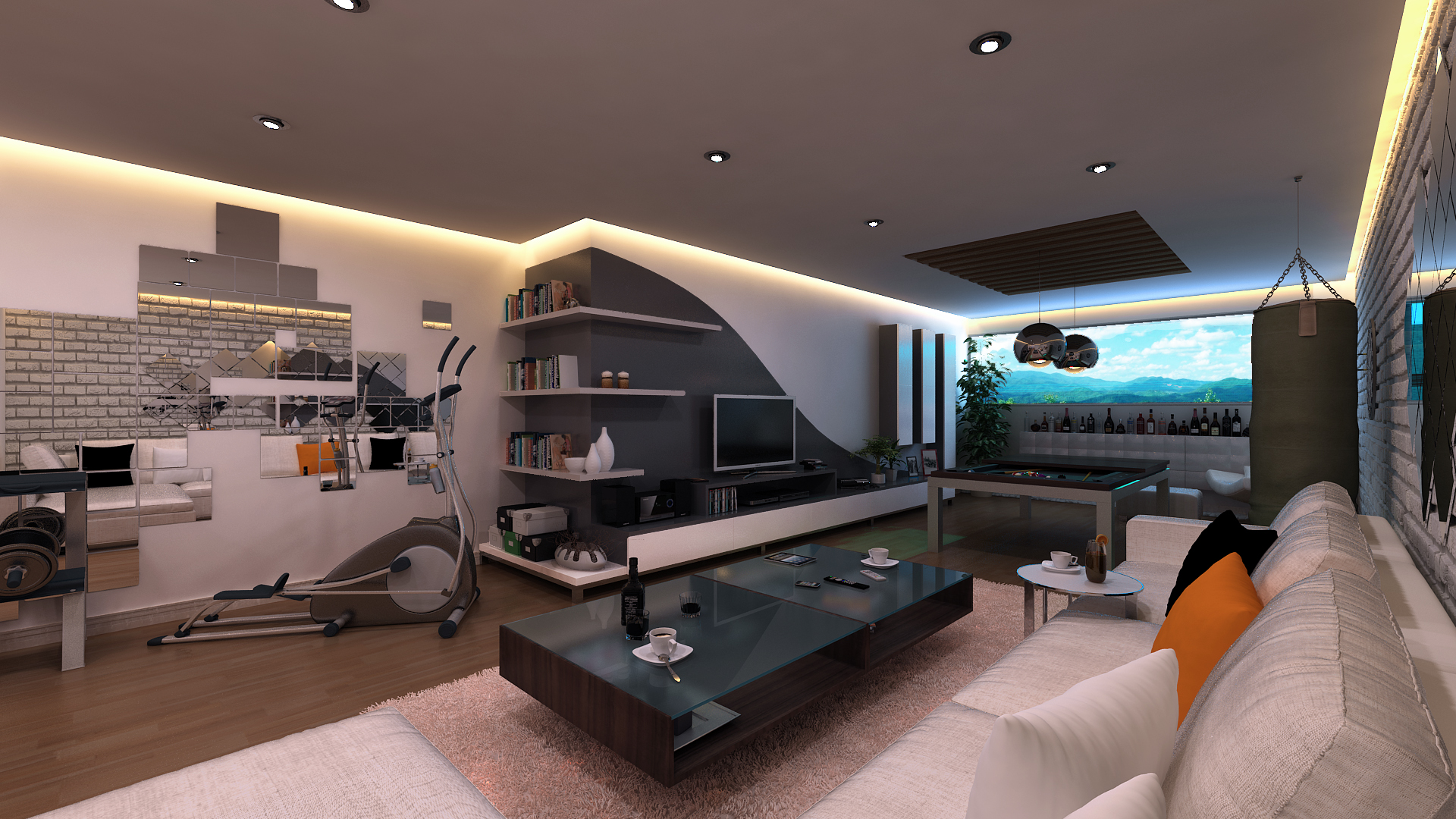 Excellent Bachelor Pad Ideas With Modern Taste: Elftug Kusadasi Games Room