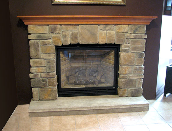 Fireplace Mantel Kits Ideas : Elk Ridge Cast Stone Fireplace Mantel