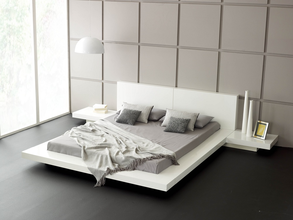 Contemporary Beds, They Unique, They Gorgeous : Emer White Contemporary King Size Bed