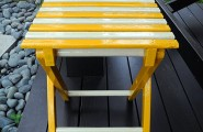 Creative Space Design Modifying Outdoor And Indoor Well : Enamel Paint DIY Project In Yellow White At Dark Porch Wooden
