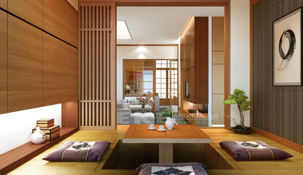 Gorgeous Home Interior Design With Masculine Touch : Ethnic House Dining Room Interior Vietnamese Visualizations With Commendable Concepts