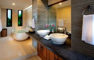 Amazing Tropical Bathroom Design Comes With The Unexpected Idea : Exotic Modern Bathroom