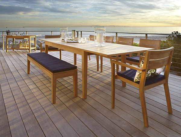 Dining Table Of Wood Present Elegant And Calm Look: Expandable Outdoor Dining Table ~ stevenwardhair.com Dining Room Design Inspiration