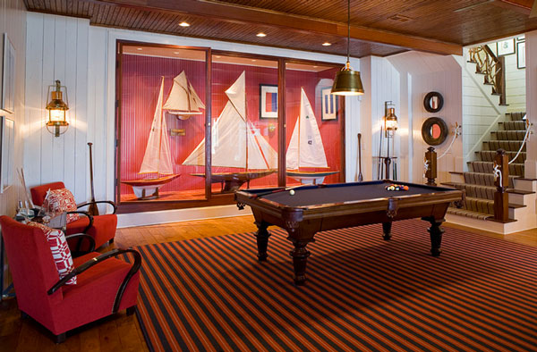 Bewitching Nautica Interior Ideas With Contemporary Furnishings Design: Exquisite Classic Entertainment Room Decor With Billiard Table On Carpet ~ stevenwardhair.com Interior Design Inspiration