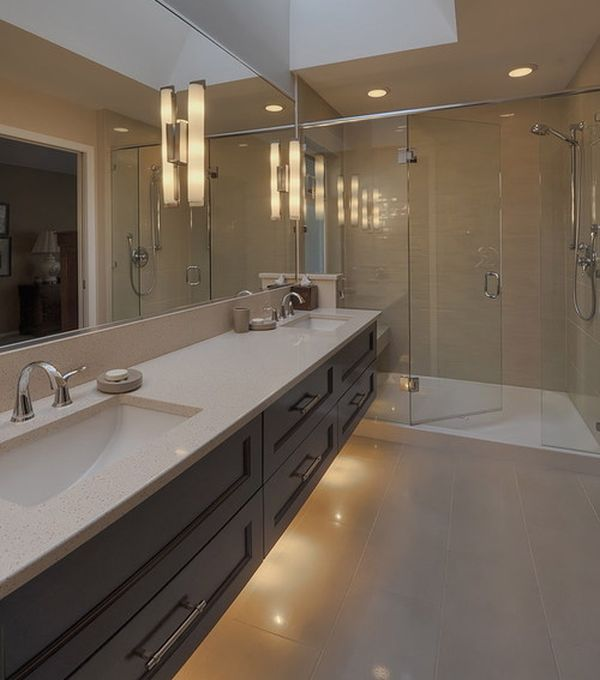 Bathroom Vanity; Personal Taste In Your Bath Room : Extensive Bathroom Vanity Design With A Modern Look