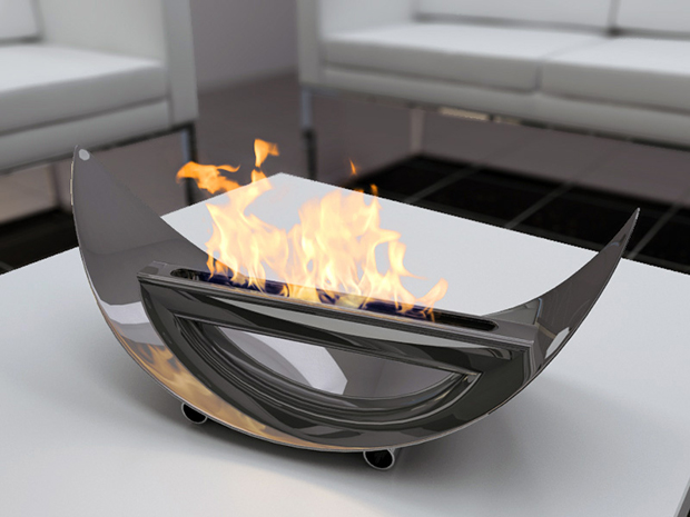 Practice Portable Fireplace For Your Activities: Extrabagant Modern Style Tabletop Portable Fireplace Design Ideas