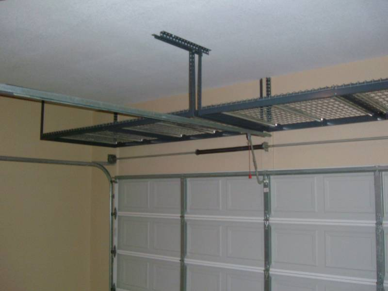 Garage Shelves Is A Simple Way To Save Your Tools: Extraordinary Modern Minimalist Brown Garage Shelves Interior Design