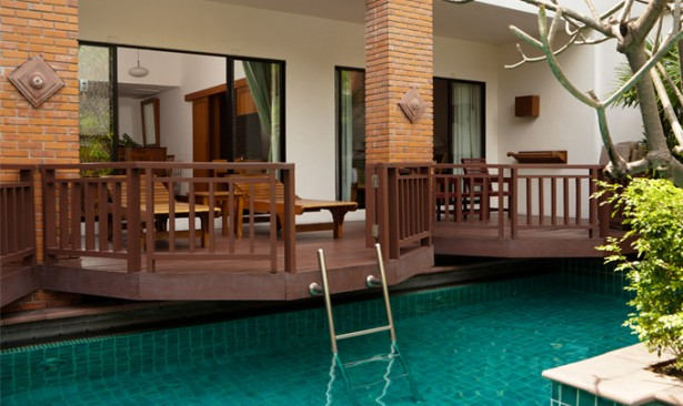 Elegant Hotel With Pool In Room Design Ideas: Extravagant Modern Wooden Deck Hotel With Pool In Room Design ~ stevenwardhair.com Hotels & Resorts Inspiration