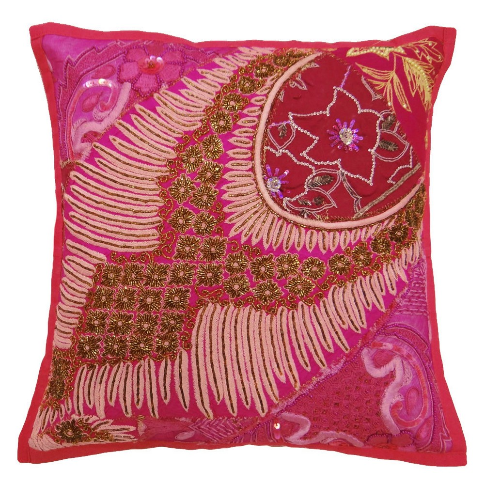Pink Sofa Pillows Custom Made Inspirations: Extravagant Pink Sofa Pillows Artistic Floral Decoration Style