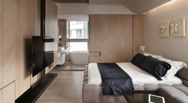 Incredible Taiwanese Apartment Dominated With Wooden Accent For Warmth: Fabulous A Tiny Taiwanese Apartment Wooden Style Interior Design ~ stevenwardhair.com Apartments Inspiration