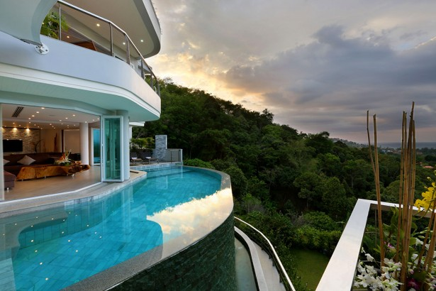 Awesome View Of Natural Villa In Phuket: Fabulous Architecture Villa Beyond Exterior With Infinity Pool Design Ideas ~ stevenwardhair.com Villas Inspiration