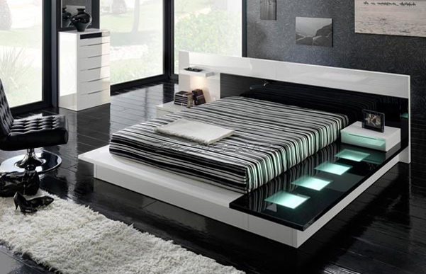 Beautiful Contemporary Furniture To Make Your Home Stylish : Fabulous Contemporary Furniture Black Marble Floor Design Ideas